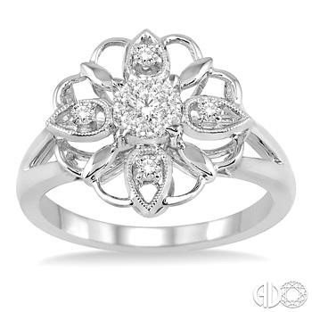 Open Work Flower Ring