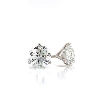 2ctw Diamond Studs-Martini Style-Lab Grown
