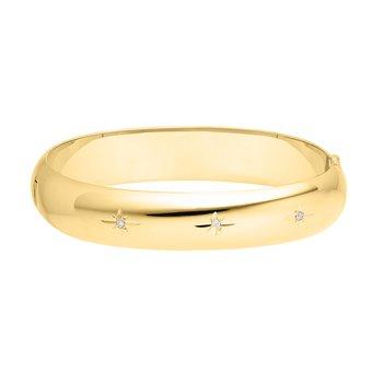 12mm Gold Filled Starcut Diamond Bracelet
