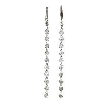 Duster Style Diamond Dangle Earrings