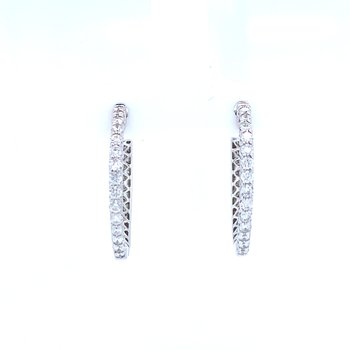 1ctw Hollywood Diamond Hoops
