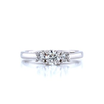 Three Diamond Engagement Ring-1/2ctw