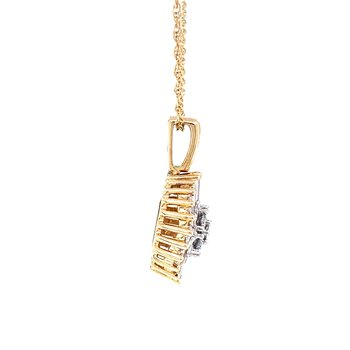 Baguette and Round Diamond Pendant