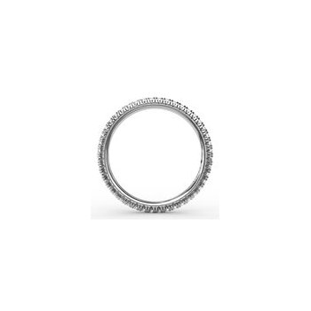 Delicate Modern Pave Eternity Anniversary Band-14kw