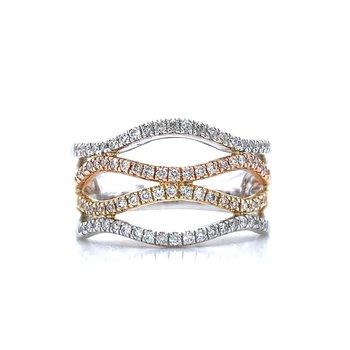 Tri-color Diamond Band