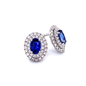 Something Special Sapphire & Diamond Earrings