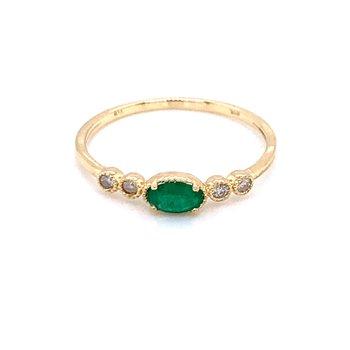Sideways EmeraldRing
