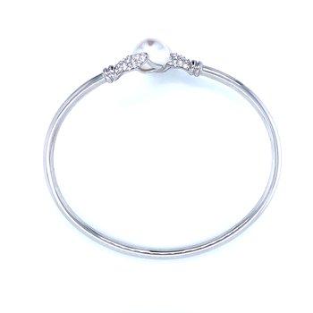 Bypass Pearl Bangle Bracelet