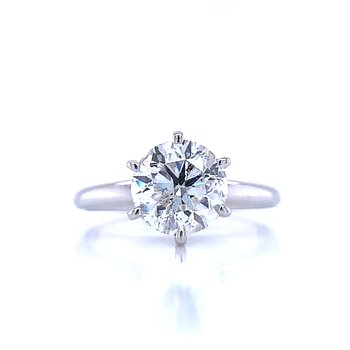 2 carat Round Solitaire Engagement Ring