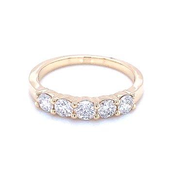 5 Stone Diamond Band-3/4ctw