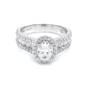 1 3/4ctw Oval Cut Engagement Ring