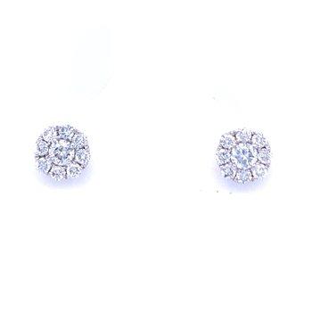 Diamond Cluster Studs 1/4ctw