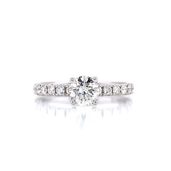 Toast the Romance Engagement Ring-1ctw
