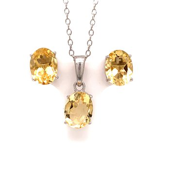 Citrine Fashion Gift Set