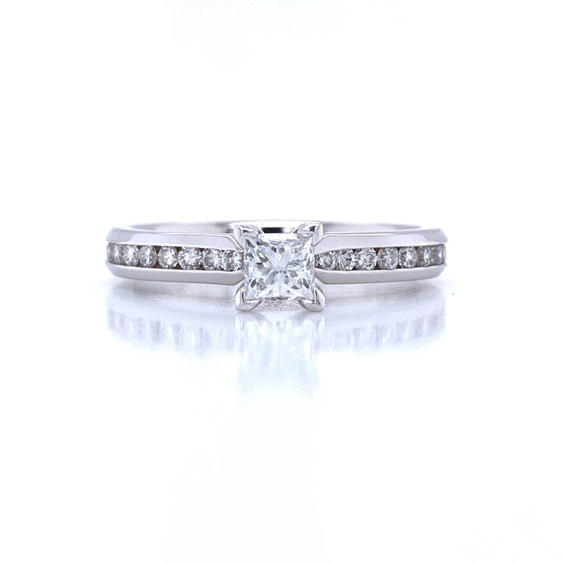 Bryan Beauties Princess cut Engagement Ring with Channel Set Diamond Band