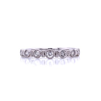 Dot & Dash Stackable Diamond Band