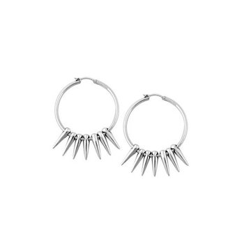 Hoop Earrings with Multiple Spikes