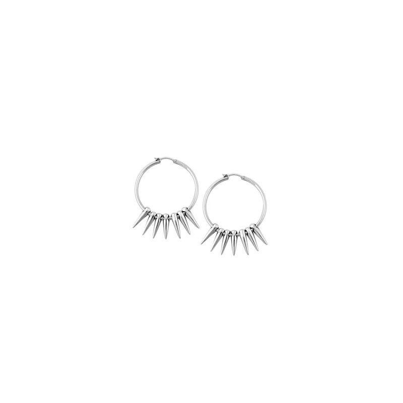 King Baby Hoop Earrings with Multiple Spikes