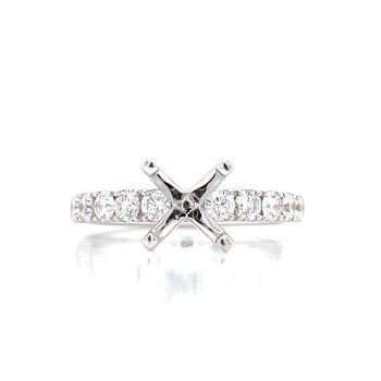 Prestigious Diamond Semi-mount to match 3/4ctw Band-14kw