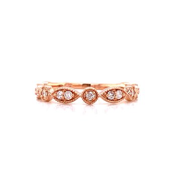 Rose Sculpted Stackable Band