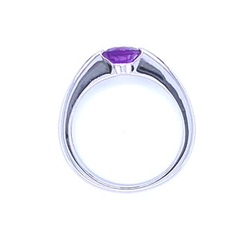 Contemporary Lines Amethyst Ring