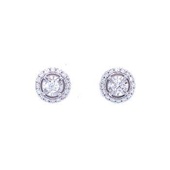 Tru-reflections Halos Diamond Studs 3/4ctw