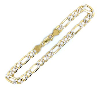 Figaro Bracelet - Yellow Vermeil-9 inch