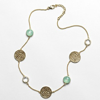 Charleston Series Chalcedony Necklace