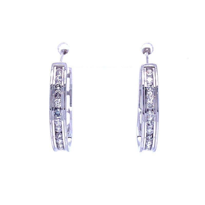 Bryan Beauties Diamond Hoop Earrings-22 mm