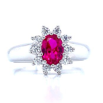 Simulated Ruby Ring