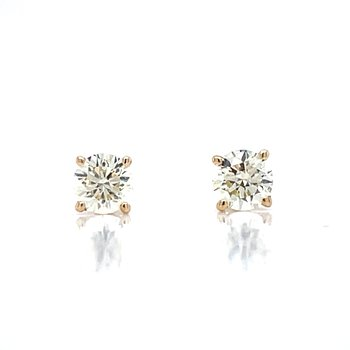 1/3ctw Diamond Studs-14ky