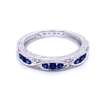 Sophisticated Sapphire Stackable Band