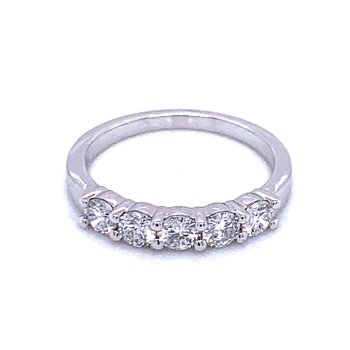 5 Stone Diamond Band-3/4ctw