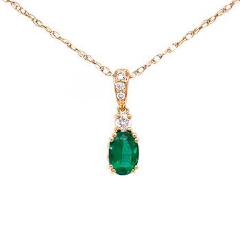 Classic Emerald and Diamond Pendant
