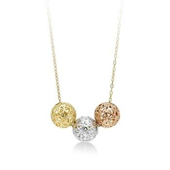 Tri-color Trio Necklace