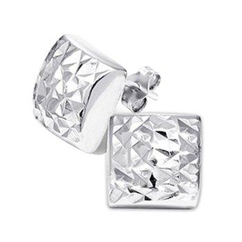 Silver Sparkle Square StudS