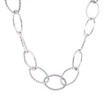 Alternating Textured Oval Link Chain-36 inches