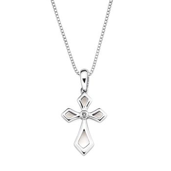 Diamond Accented Cross Pendant