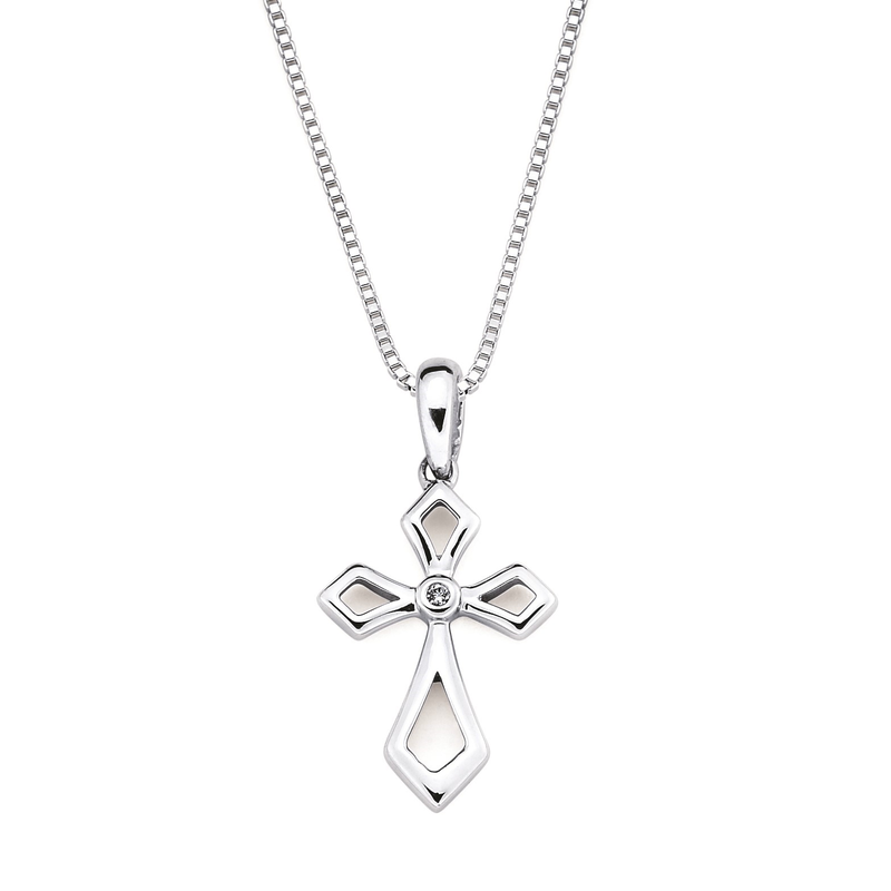 Bryan Beauties Diamond Accented Cross Pendant