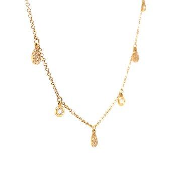 Seven Station Diamond Necklace