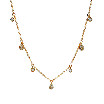 Seven Station Diamond Necklace