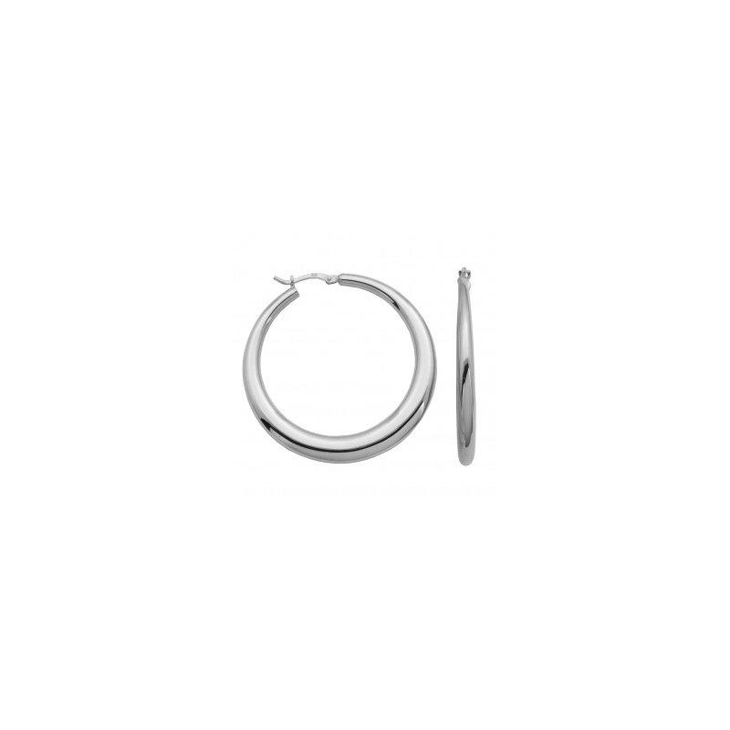 Charles Garnier Sterling Silver Electroform Graduated Hoops-45mm