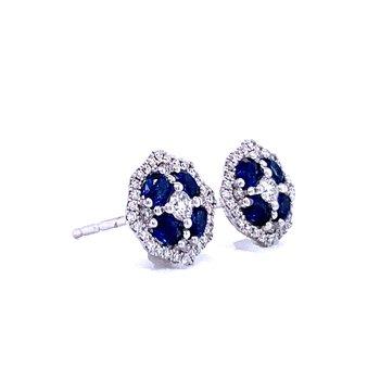 Sapphire & Diamond Studs