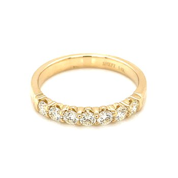 7 Diamond Shared Prong Band 1/2ctw 14ky
