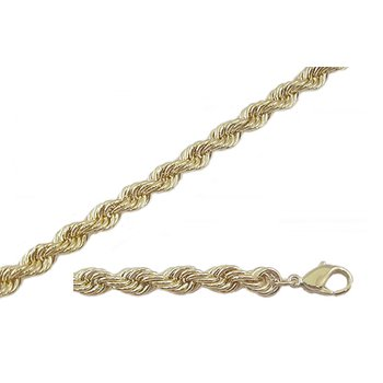 Forever Gold 7mm Rope Chain-24 inches
