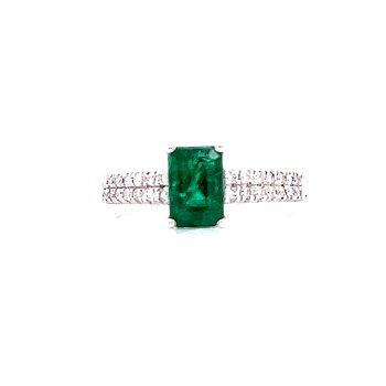 Regal Emerald and Diamond Ring