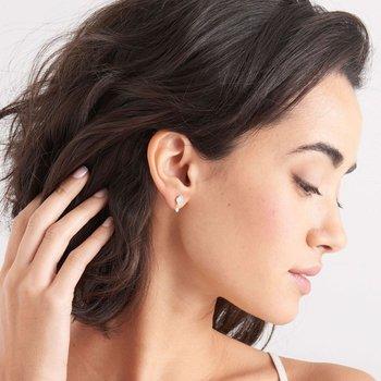 TURQUOISE DROP STUD EARRINGS