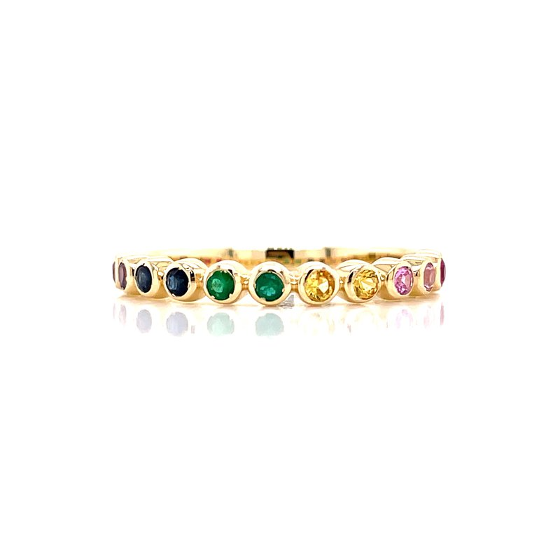 Bryan Beauties Colorful Sapphires Stackable Band