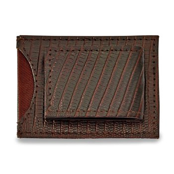 Black Leather Front Pocket Wallet