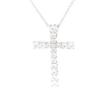 Flaired Arm Diamond Cross 3/4ctw